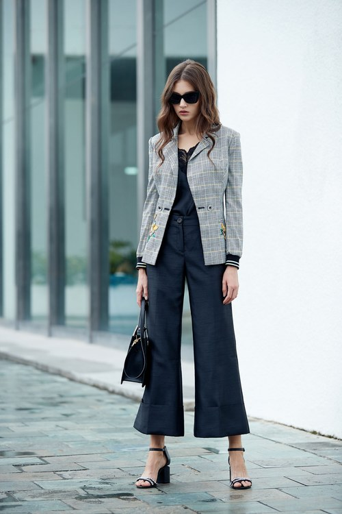 Satin reflexive fashion long pants