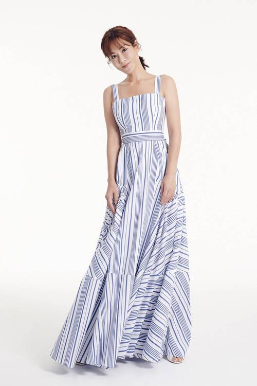 Straight stripes-sleeveless dress