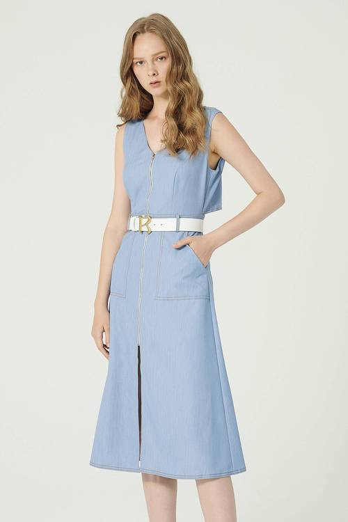 Blazing! Soft Tencel Denim Long Dress
