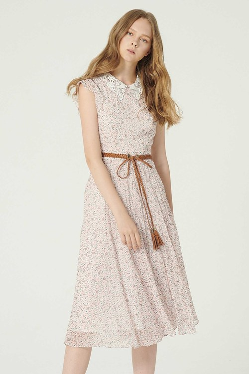 Recommended! Nanfa Xiangsong Floral Lotus Leaf Dress