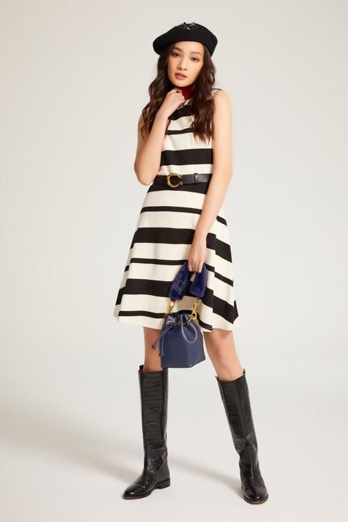 Striped fit dress