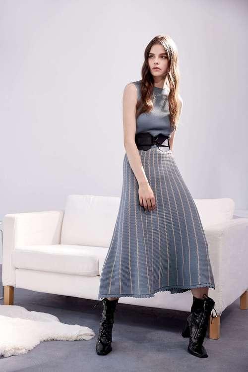 Long knit sleeveless dress