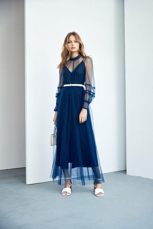 Perspective mesh dress