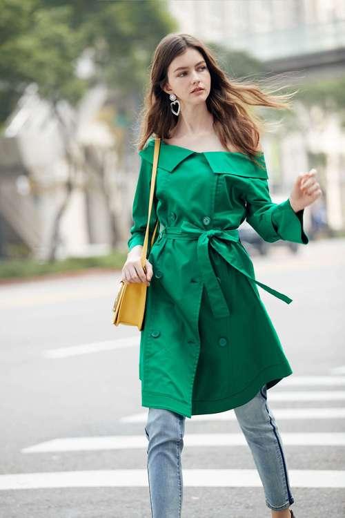Buckle fashion dress