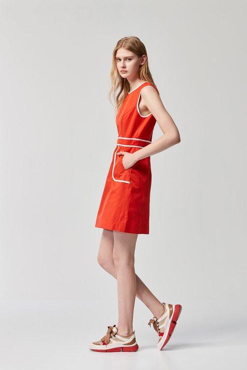 edding roller vest dress