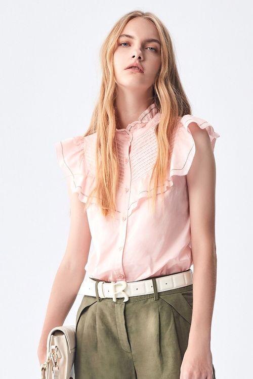Lotus collared vest shirt.