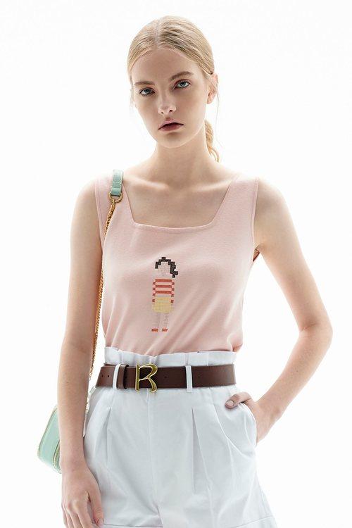 Pink skin color topquart vest