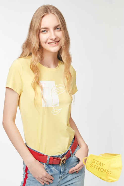 Medical Personnel Stay Strong T-shirt-Yellow