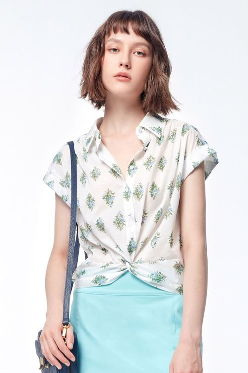 Printed knot top