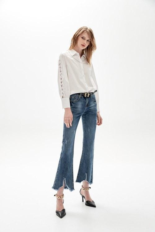 Lace stitched shirt