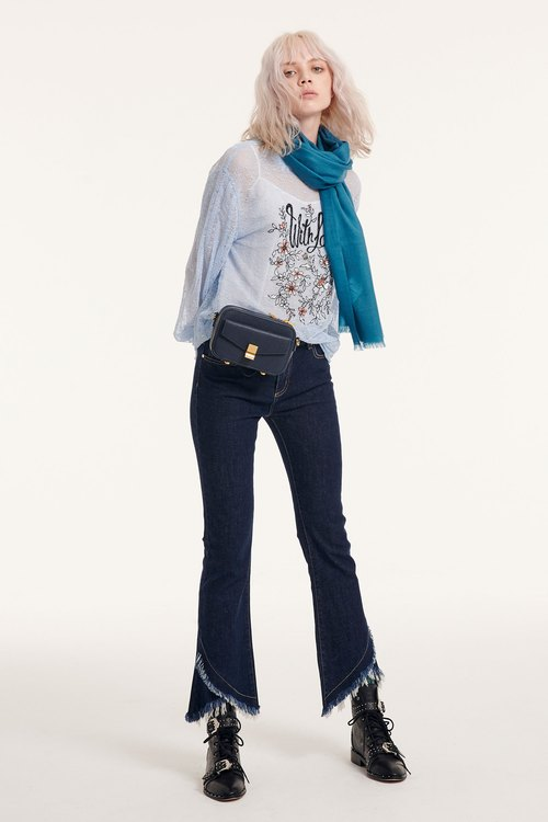 Lace embroider top