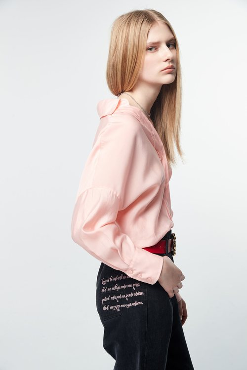 Back-pour long-sleeved thin shirt