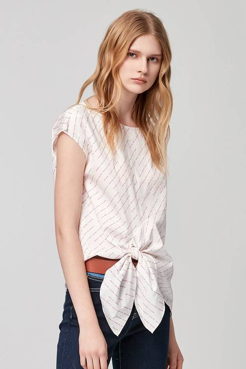 letter print KNOTTED TOP