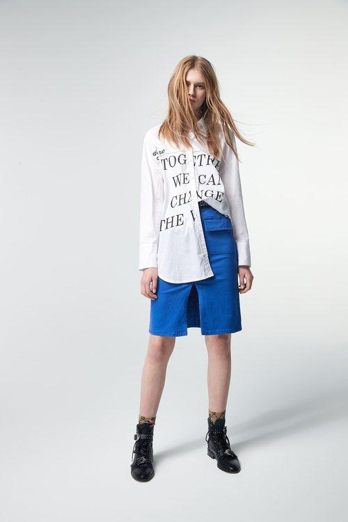 Mid-waist skirt
