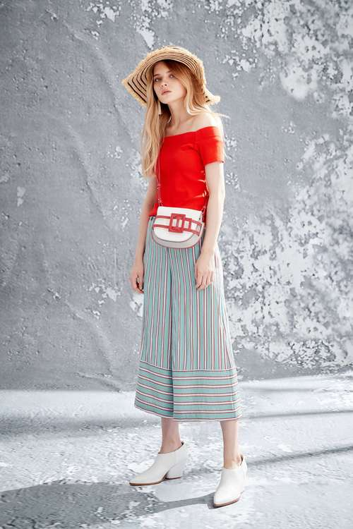 Color strips culottes