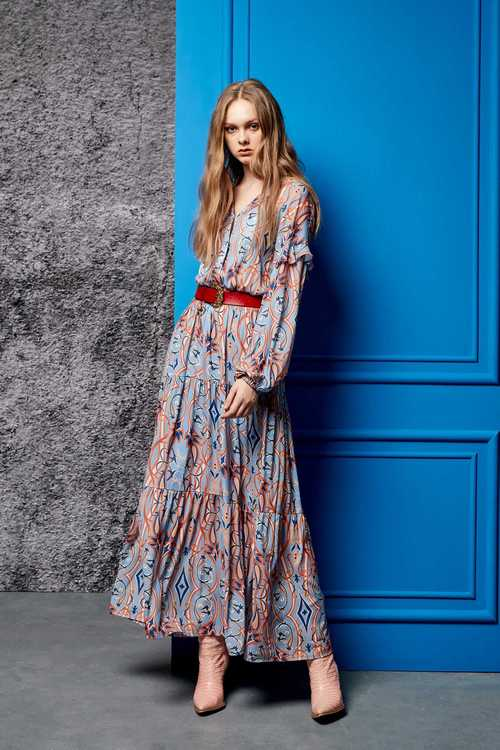 Printed street soft dress