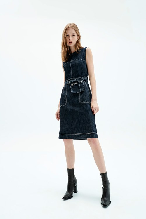 Slim denim dress