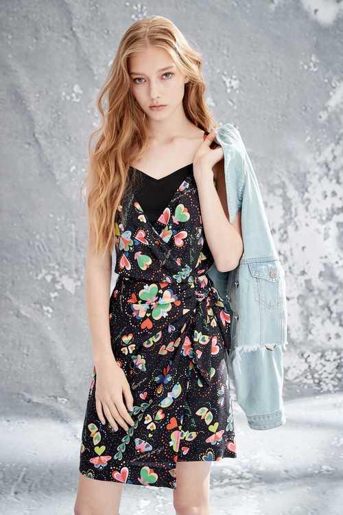 Colorful heart fashion dress