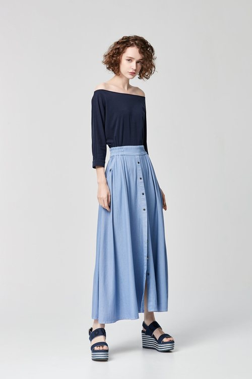 contrast stitching dress