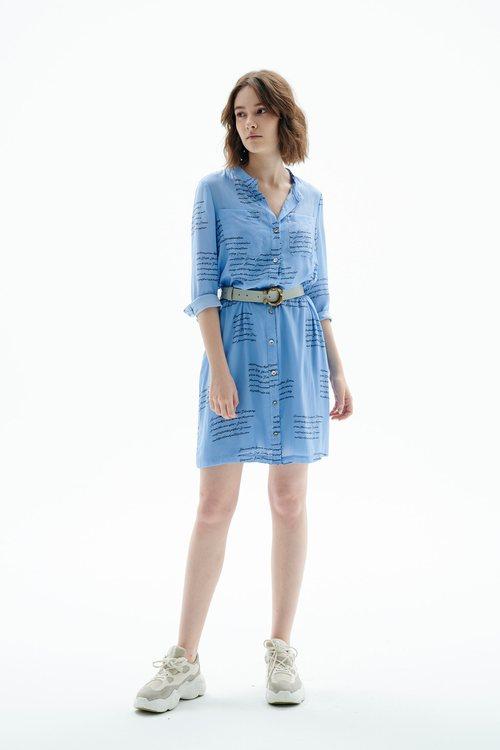 Letter printed dress