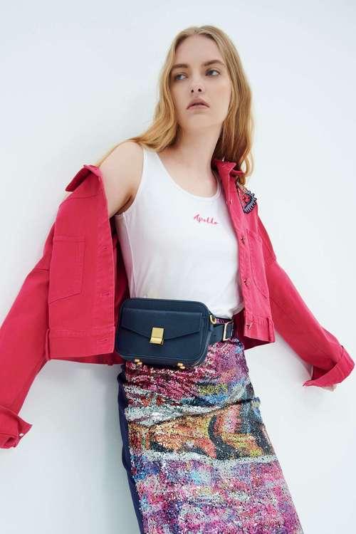 Basic embroidered vest