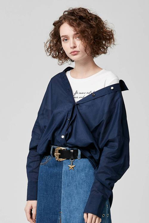 Front knotted shirt