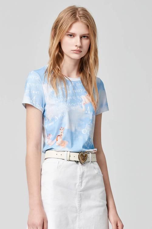 Angel print T-shirt
