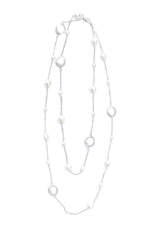 Irregular Pearl Long Necklace