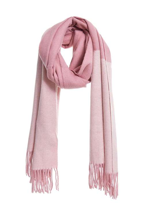 Wool coloured woven scarf