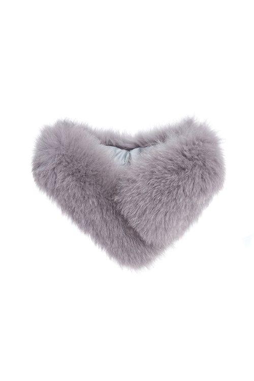 Grey fox fur collar,scarf,rayon,scarf,rayon,scarf,rayon,coldforwinter,scarf,embroidery,watersigns,embroidered,accessories,scarf,coldforwinter