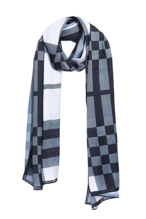 Classic plaid print scarf