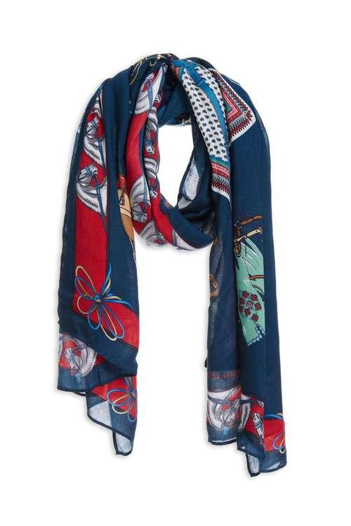 European carriage print scarf