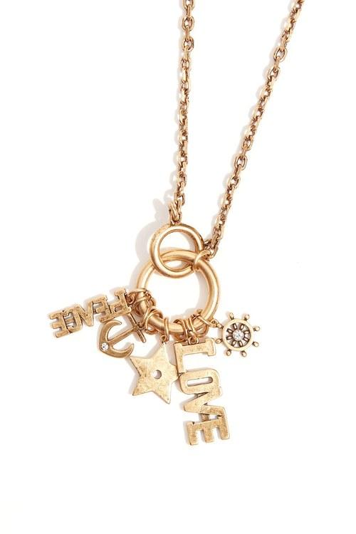 Distressed pendant necklace