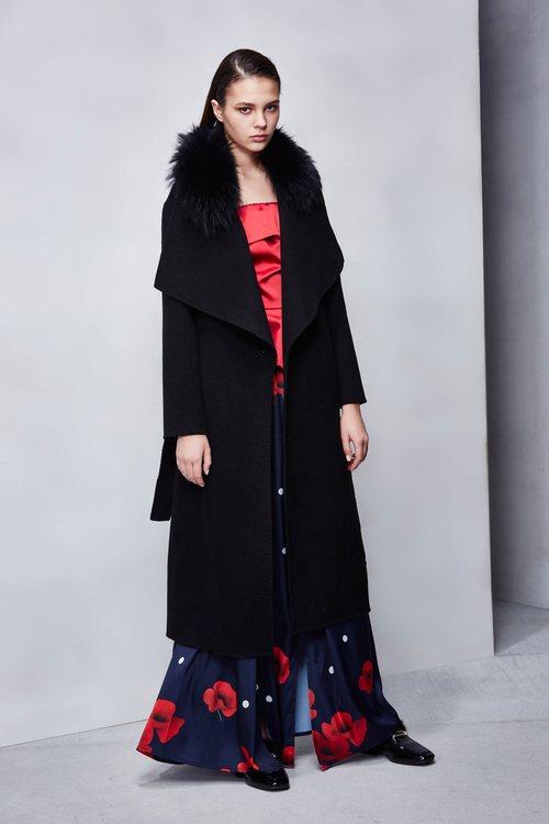 Black woolen coat
