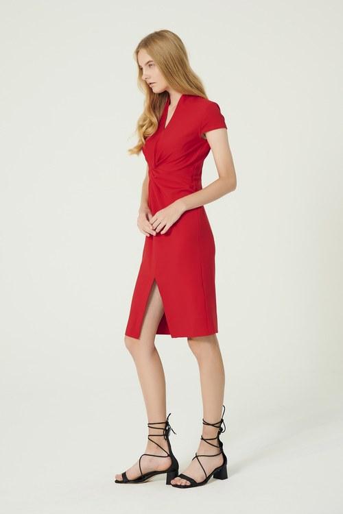 Simple folded siain dress,cocktaildress,eveningwear,pencilskirt,dress,restock
