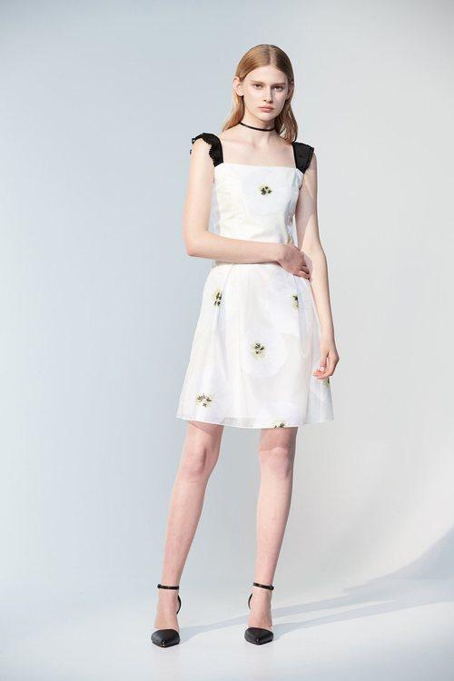Large white flower dress