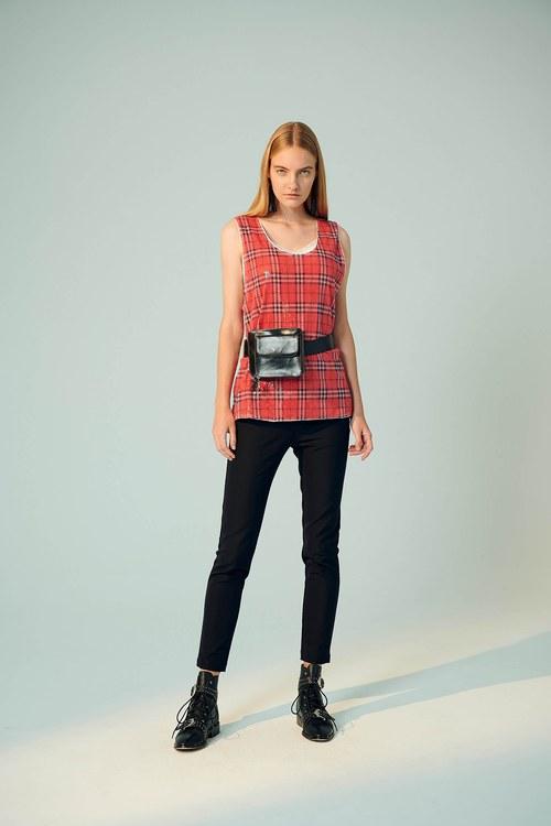 (XeiXei)Basic fit trousers
