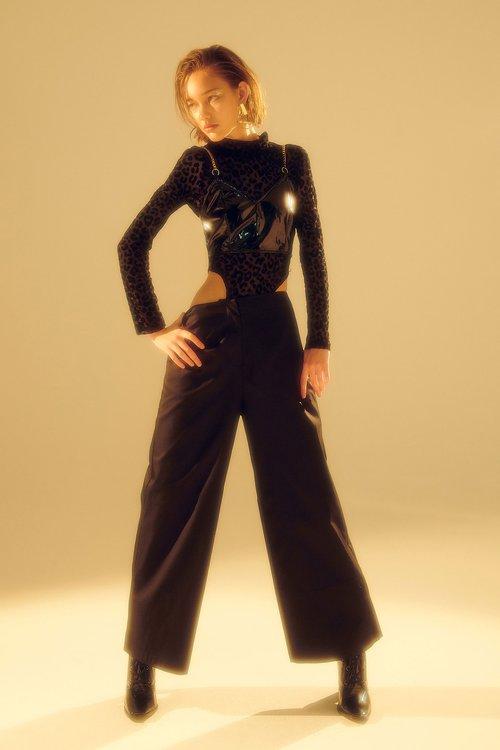 (XeiXei)Middle waist Culottes