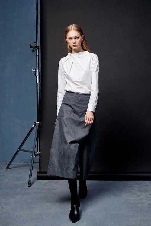 Asymmetric design trouser skirt