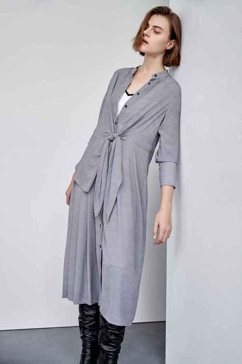 Asymmetrically splice dress