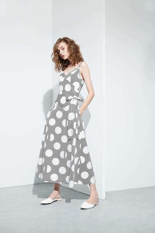 Polka dots slip dress