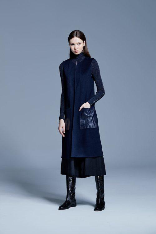 classic fashion long sleeveless vest