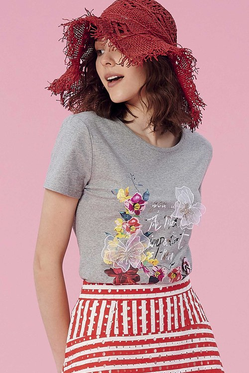 Printed three-dimensional butterfly print T shirt,t-shirt,t-shirt,lace,t-shirt,t-shirt,cotton