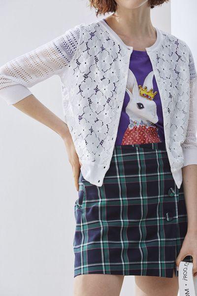 Stitching woman knit coat