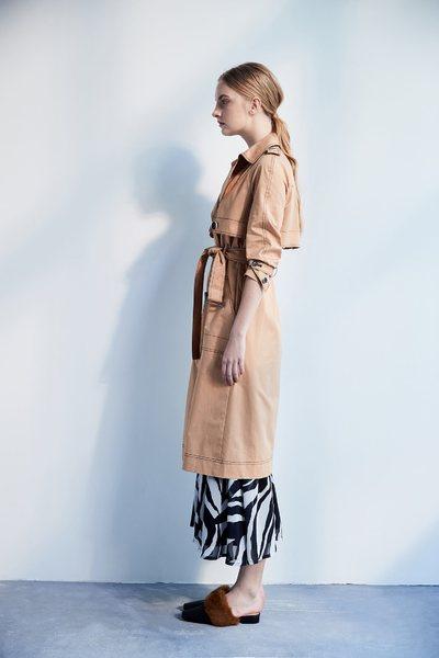 Classic khaki trench coat