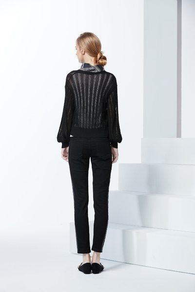 Knitting stripe coat