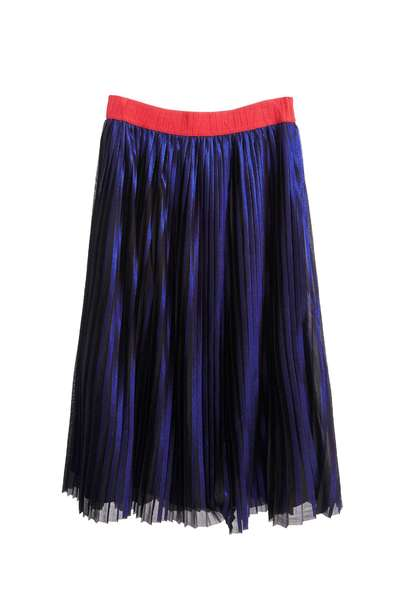 Pleated long skirts