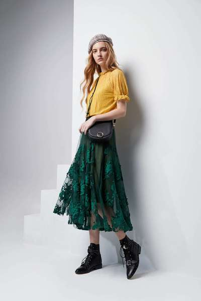 Full embroidered long skirts