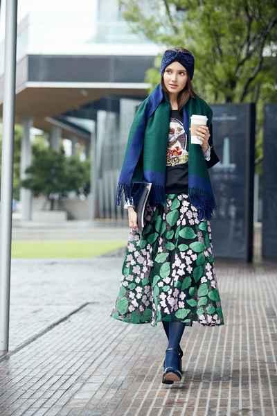 Multi-layer textured chiffon long skirt