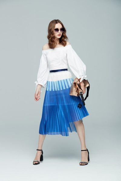 Stitching color fashion dress